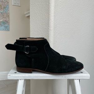 Madewell sample booties suede black 7